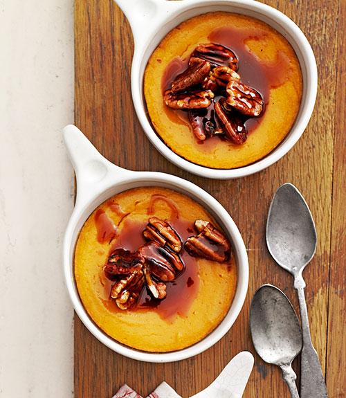 Sweet Potato Spoon Bread with Caramel Pecan Topping Recipe