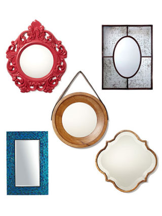 Decorative mirrors cheap wall mirrors for Affordable decorative mirrors