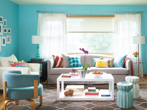 Living Room Makeover Cheery Living Room Decorating Ideas