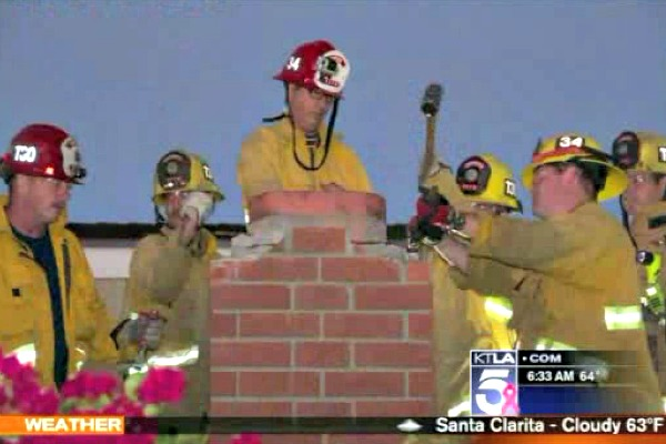 Online Dating Woman Stuck In Chimney
