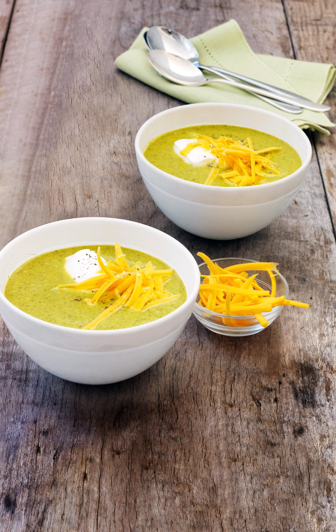 Roasted Broccoli Soup Recipe