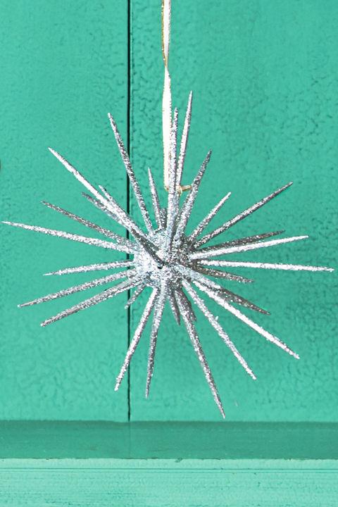 Carefully push whole and halved toothpicks