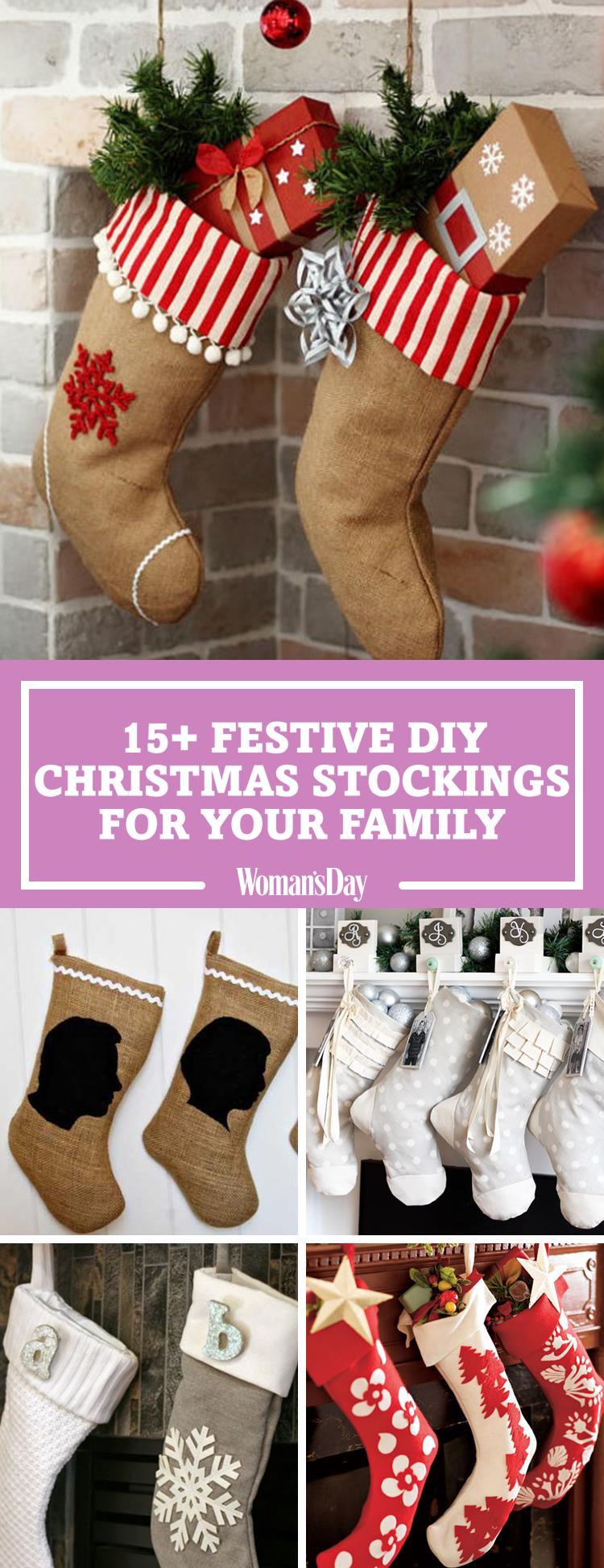 20 DIY Christmas Stockings - How to Make Christmas ...