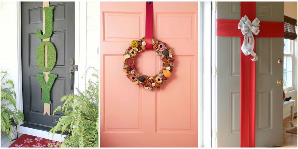 Homemade christmas door decorating ideas for H h christmas decorations