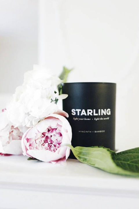 BUY NOW: $55, starlingproject.orgSales of fragrant soy candles from The Starling Project help provide solar energy to under-resourced countries across the globe, granting needy communities access to electricity, clean water, safety, health, education, and more.
